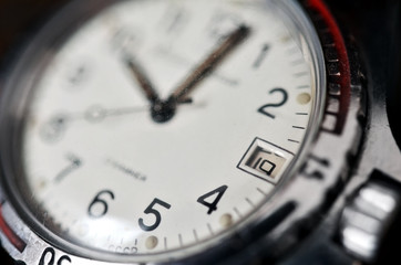 Old watch closeup