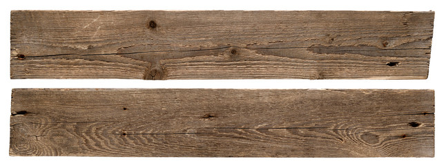 Old wooden boards isolated on white background