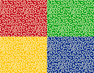Popular japanese seamless pattern karakusa
