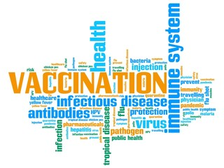 Vaccines - informative word cloud illustration