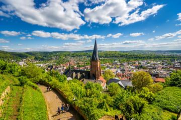 Ausblick über Marburg