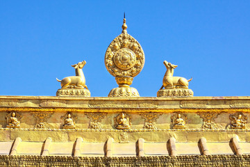The Golden sculpture of Tibet architecture
