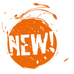 new,button,sign,advertising,orange,grunge,vector