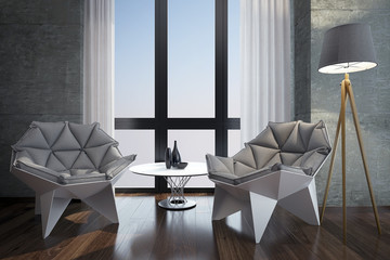 Luxury modern home office.