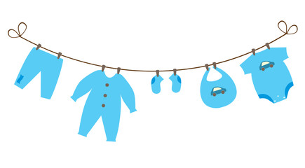 vector newborn baby clothes