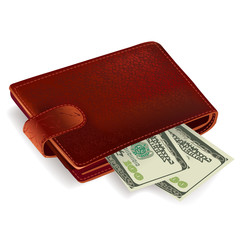 Wallet filled with bills