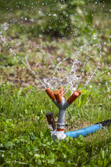 Garden sprinkler water
