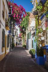 beautiful old city Marbella in Spain