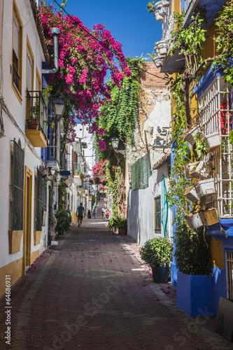 Leinwanddruck Bild beautiful old city Marbella in Spain