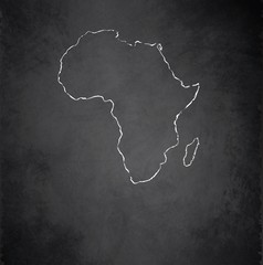 Africa map blackboard chalkboard