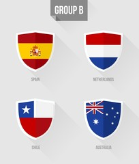 Brazil Soccer Championship 2014 Group B flags