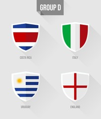 Brazil Soccer Championship 2014 Group D flags