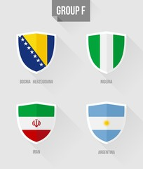 Brazil Soccer Championship 2014 Group F flags