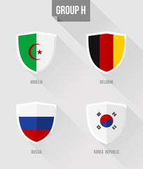 Brazil Soccer Championship 2014 Group H flag signs