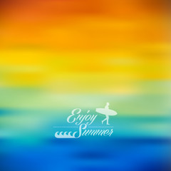 Enjoy Summer colorful blurred background