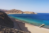 View of the Red Sea and coast Sinai in Taba, Egypt