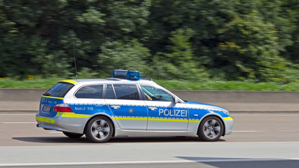 German highway police