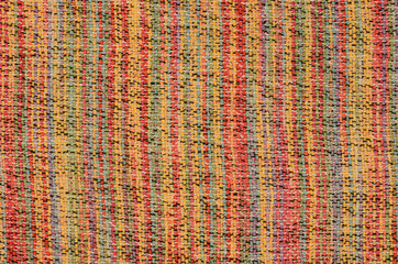 close up varicolored knitted carpet background