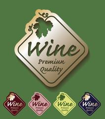 Wine premium quality golden set colours