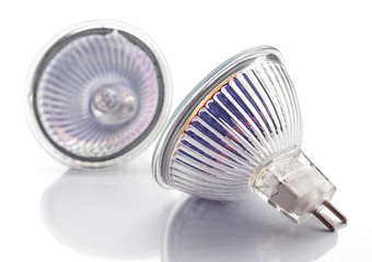 dichroic halogen type bulb lamps isolated on white