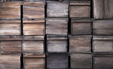 Old wooden crates texture
