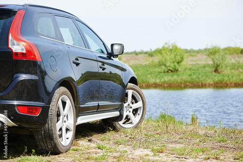 Aluminium Vissen car automobile at highway