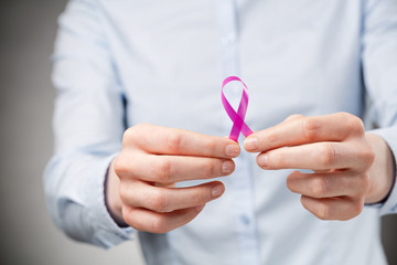 Businesswoman Promoting Cancer Awareness