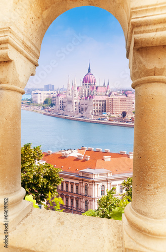 View on parliament from Fisherman's Bastion - 64691902