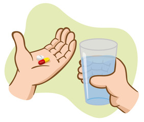Aid First take medicine with water