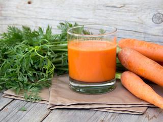 Fresh carrot juice