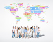 Multiethnic People and a Social Networking Concept