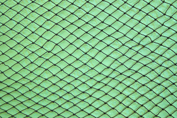 fishing net on wall