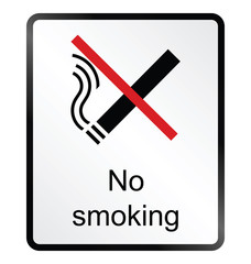 no smoking public information sign