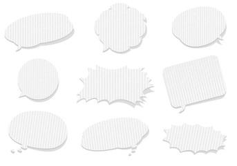 retro cardboard bubbles speech Vector
