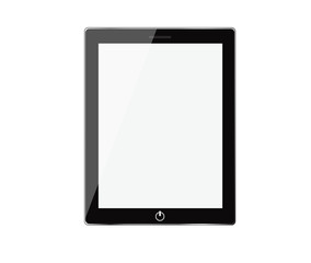Realistic tablet pc computer with blank screen