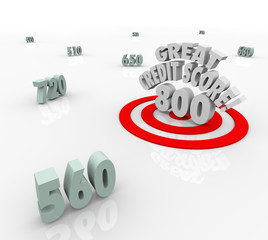 Great Credit Score Numbers Target High Rating Loan Borrow