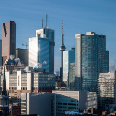 Buildings in a city, CN Tower, Toronto, Ontario, Canada