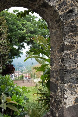 Trees viewed through an arch, Xochimilco, Mexico City, Mexico