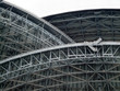 Low angle view of structure of a stadium, Toronto, Ontario, Cana
