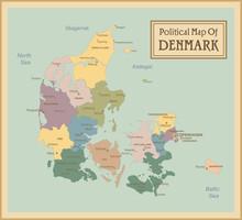 Danemark hautement map.Layers détaillés utilisés.