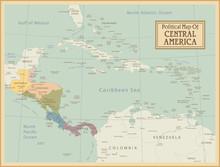 Central map.Layers Amérique hautement détaillés utilisés.