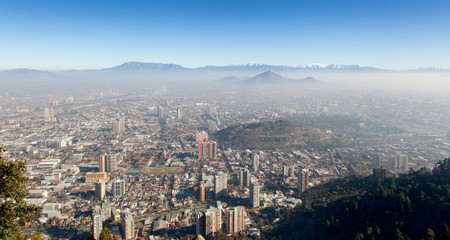 Cerro Blanco view, Santiago, Chile