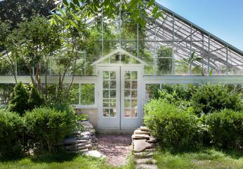 Facade of a greenhouse, Allan Gardens, Toronto, Ontario, Canada