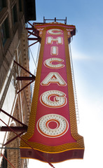 Low angle view of a signboard, Chicago, Cook County, Illinois, U