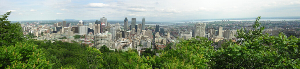 Skyscrapers in a city, Montreal, Quebec, Canada