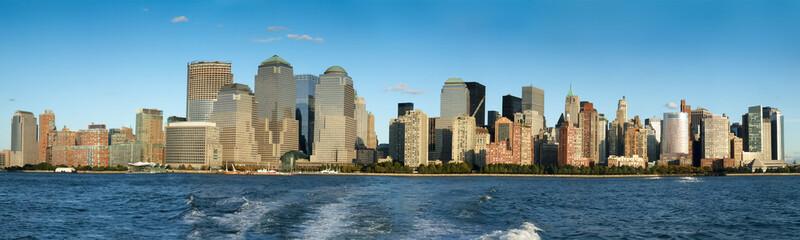 City at waterfront, Manhattan, New York City, New York State, US