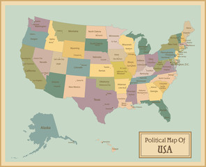 USA-highly detailed map.Layers used.