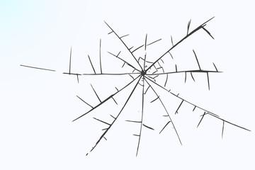 hand draw sketch, broken glass