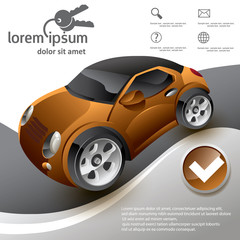 car abstract template