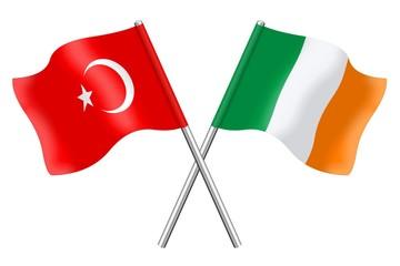 Flags: Turkey and Ireland